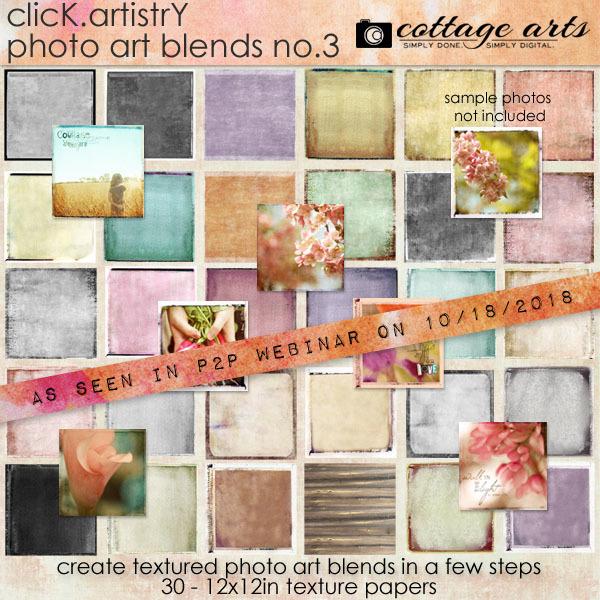 Click.artistry Photo Art Blends 3 Digital Art - Digital Scrapbooking Kits