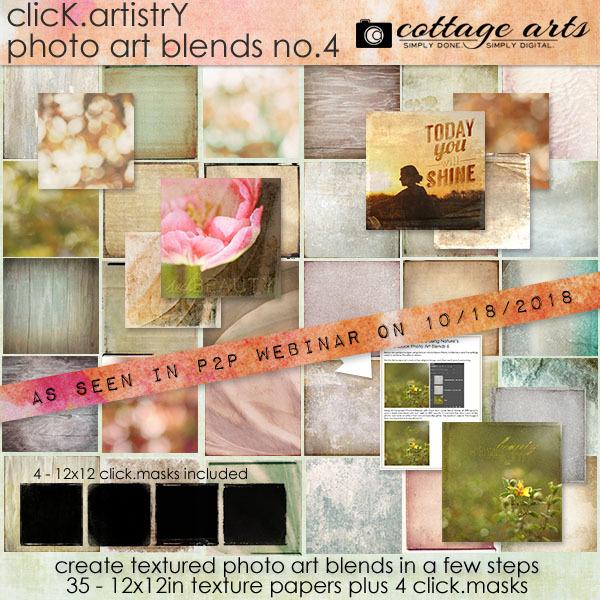 Click.artistry Photo Art Blends 4 Digital Art - Digital Scrapbooking Kits
