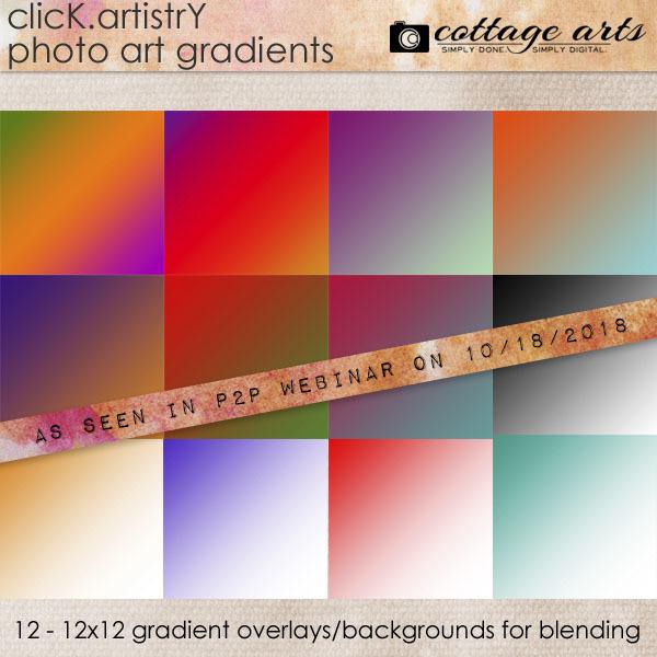 Click.artistry Photo Art Gradients 1 Digital Art - Digital Scrapbooking Kits