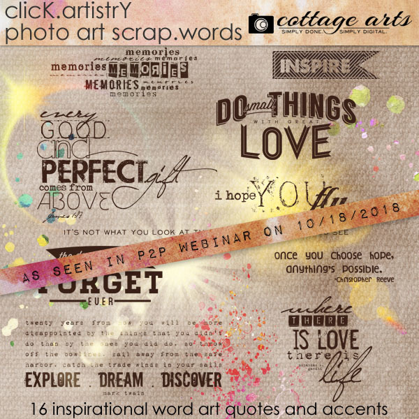 Click.artistry Scrap.words Digital Art - Digital Scrapbooking Kits