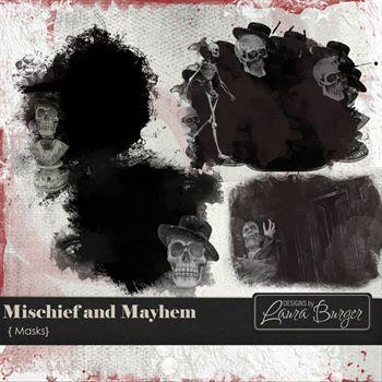 Mischief And Mayham Masks Digital Art - Digital Scrapbooking Kits