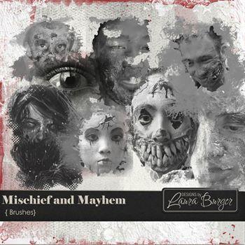Mischief And Mayhem Brushes Digital Art - Digital Scrapbooking Kits