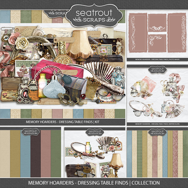Memory Hoarders - Dressing Table Finds Collection Digital Art - Digital Scrapbooking Kits