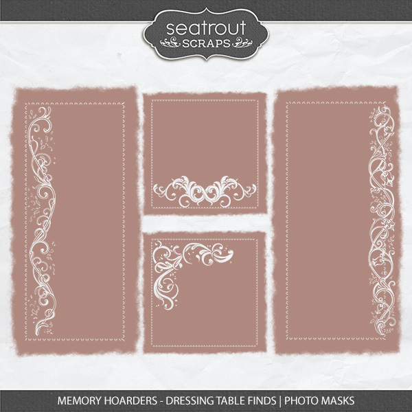 Memory Hoarders - Dressing Table Finds Photo Masks Digital Art - Digital Scrapbooking Kits
