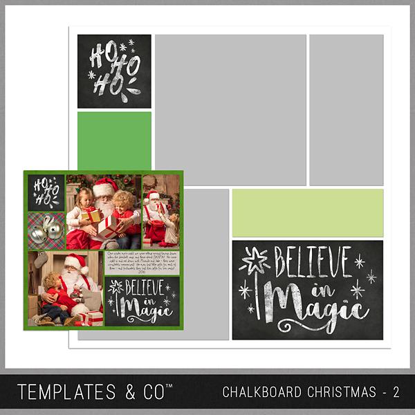 Chalkboard Christmas 2 Digital Art - Digital Scrapbooking Kits