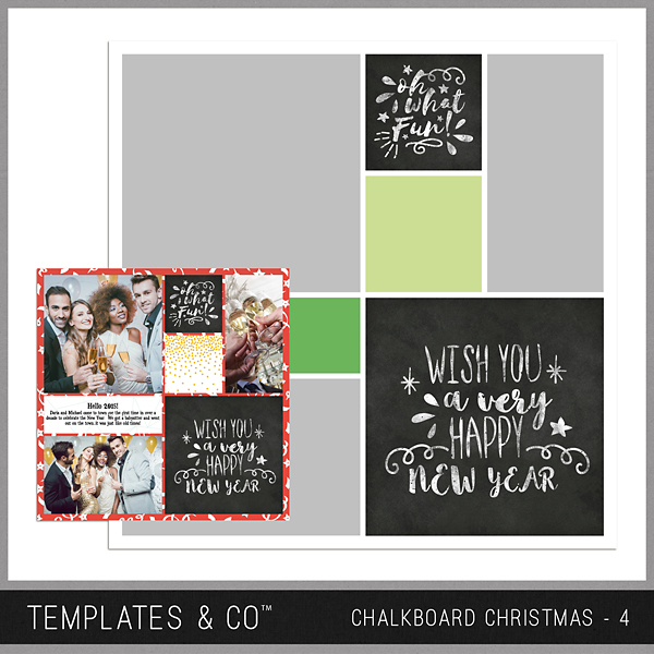 Chalkboard Christmas 4 Digital Art - Digital Scrapbooking Kits