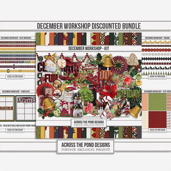 December Workshop - Discounted Bundle Digital Art - Digital Scrapbooking Kits