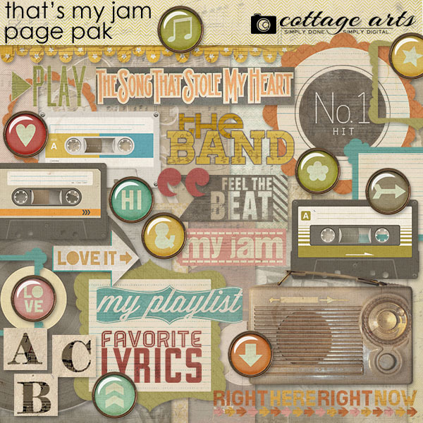That's My Jam Page Pak Digital Art - Digital Scrapbooking Kits