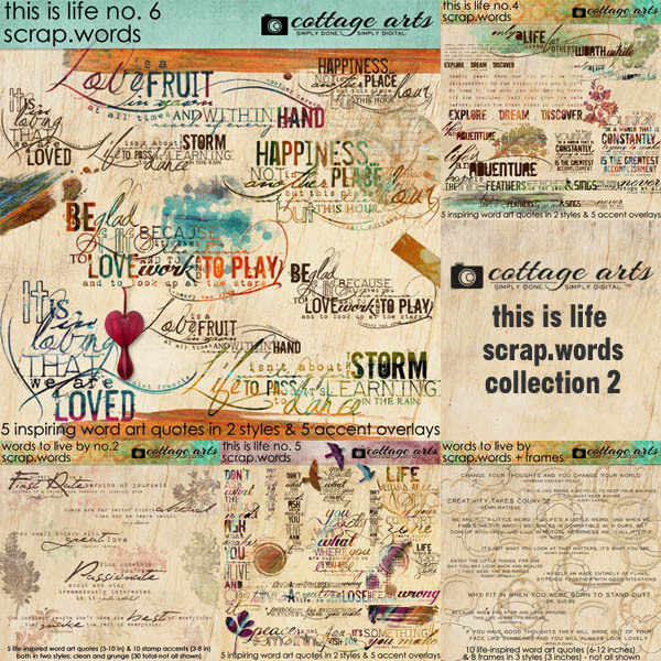 This Is Life Scrap.words Collection 2 Digital Art - Digital Scrapbooking Kits