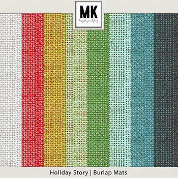 Holiday Story - Burlap Mats Digital Art - Digital Scrapbooking Kits