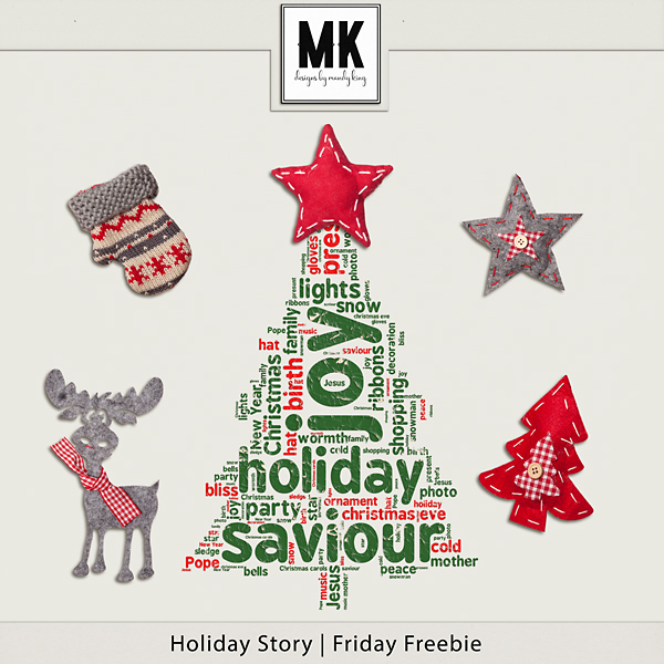 Holiday Story - Friday Freebie! Digital Art - Digital Scrapbooking Kits