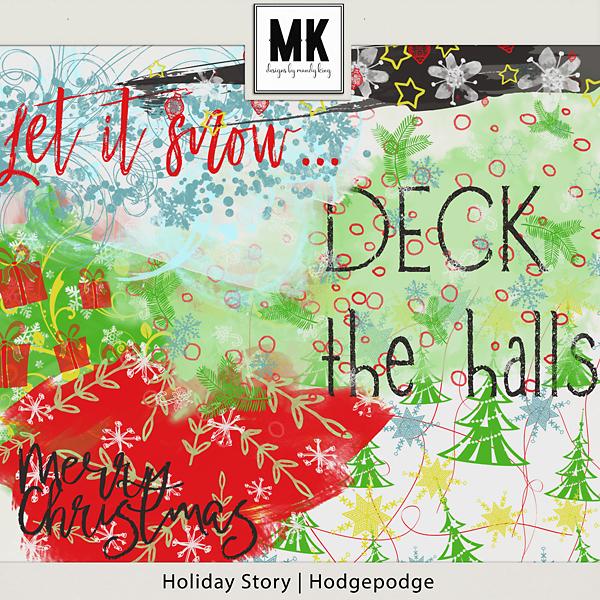 Holiday Story - Hodgepodge Digital Art - Digital Scrapbooking Kits
