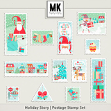 Holiday Story - Stamps