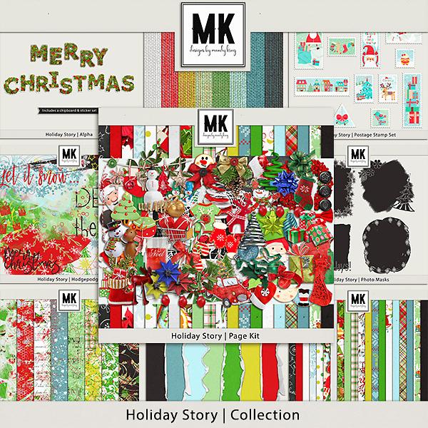 Holiday Story Full Collection Digital Art - Digital Scrapbooking Kits