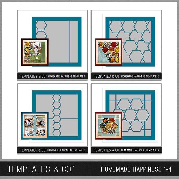 Homemade Happiness Templates 1-4 Digital Art - Digital Scrapbooking Kits