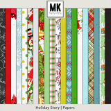 Holiday Story - Page Kit