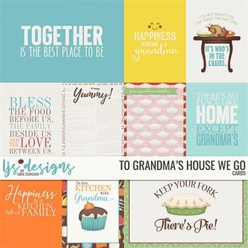 To Grandma's House We Go Cards Digital Art - Digital Scrapbooking Kits