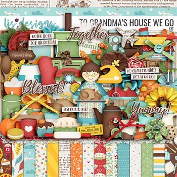 To Grandma's House We Go Kit Digital Art - Digital Scrapbooking Kits
