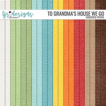 To Grandma's House We Go Papers Digital Art - Digital Scrapbooking Kits