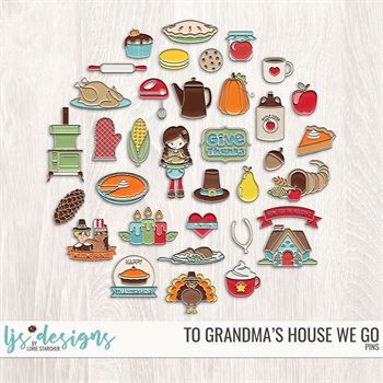 To Grandma's House We Go Pins Digital Art - Digital Scrapbooking Kits