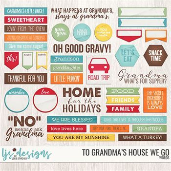 To Grandma's House We Go Words