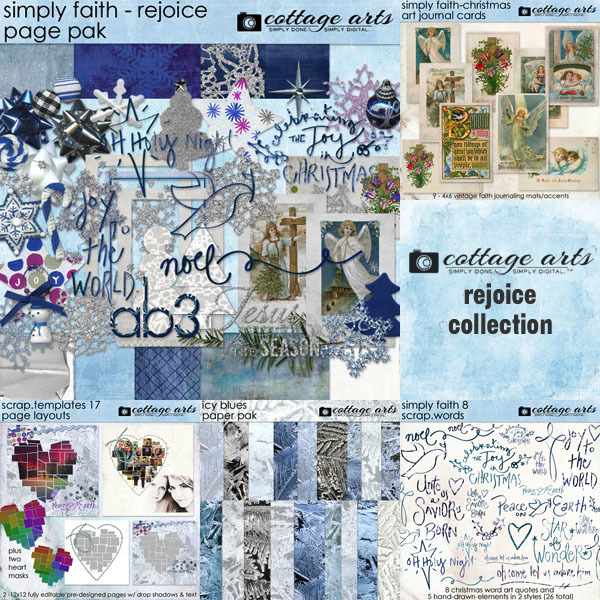 Rejoice Collection Digital Art - Digital Scrapbooking Kits