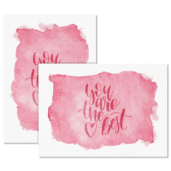 Watercolor You are the Best Card