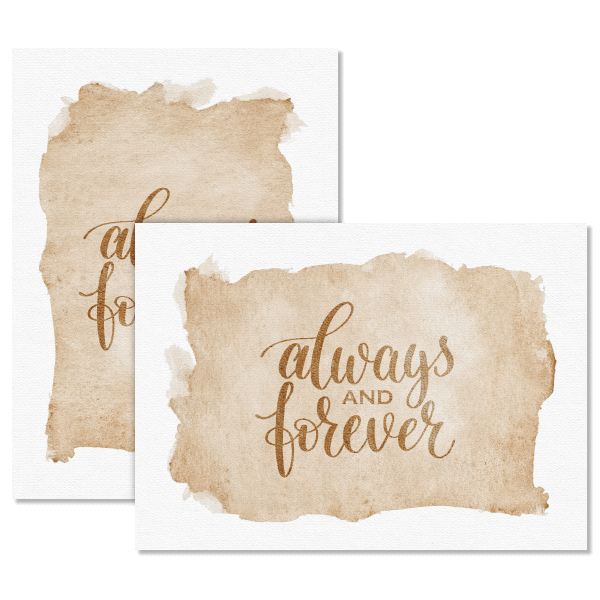 Watercolor Always and Forever Card