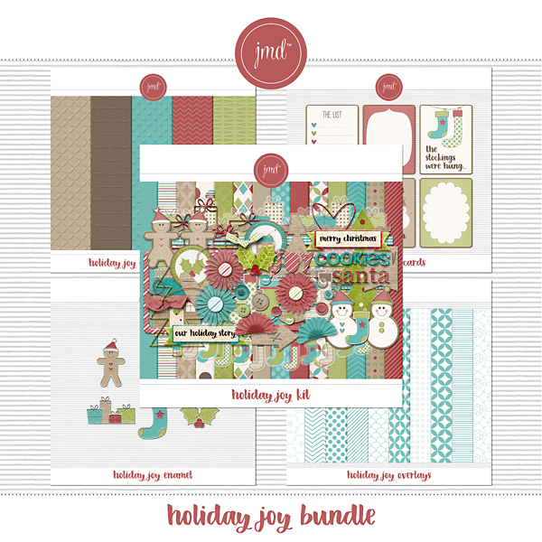 Holiday Joy Bundle Digital Art - Digital Scrapbooking Kits