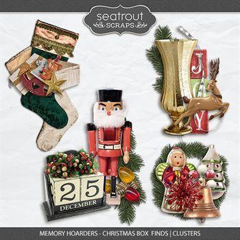 Memory Hoarders Christmas Box Finds - Clusters Digital Art - Digital Scrapbooking Kits