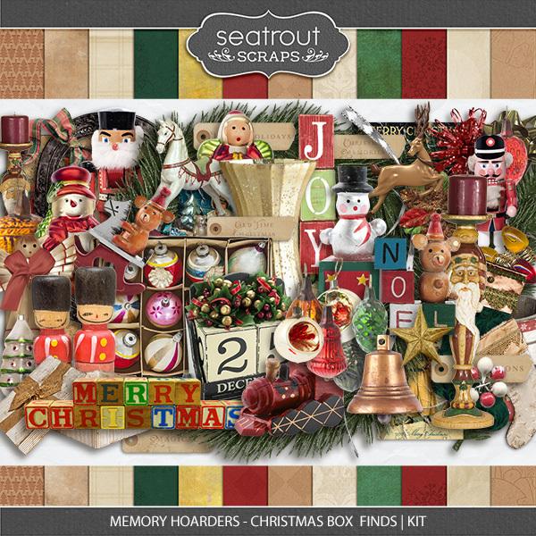 Memory Hoarders Christmas Box Finds - Kit Digital Art - Digital Scrapbooking Kits