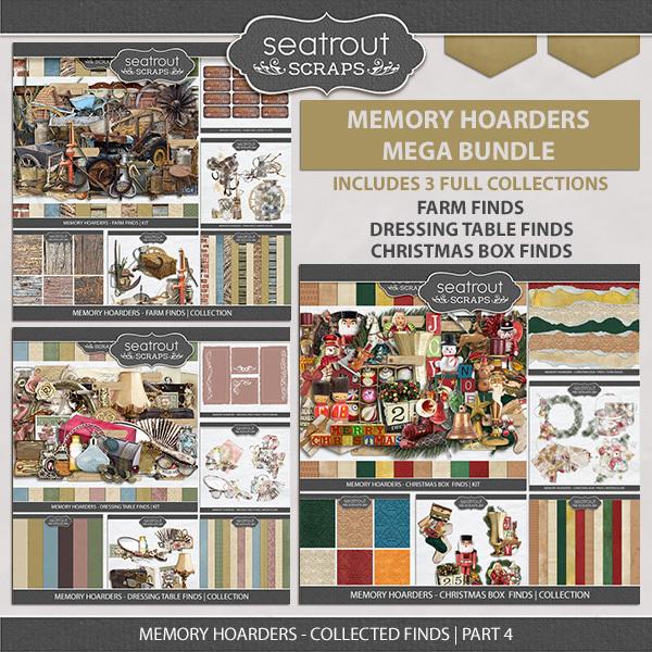 Memory Hoarders Collected Finds Part 4 Digital Art - Digital Scrapbooking Kits