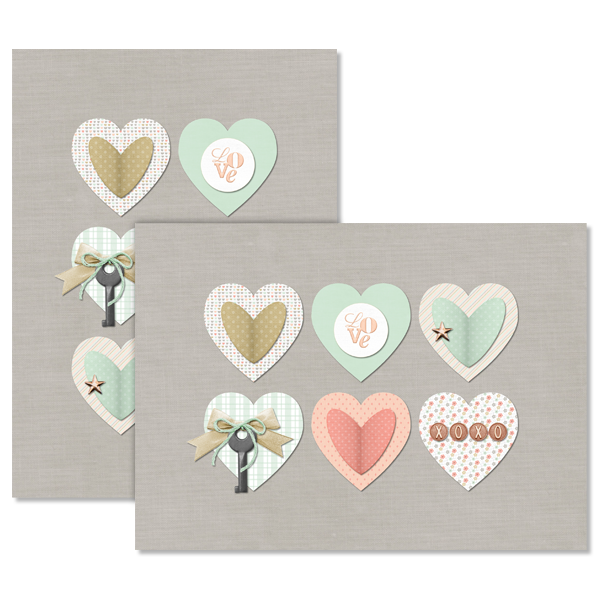 Scrapbook Hearts Card