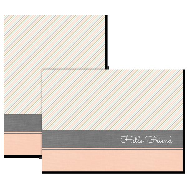 Diagonal Pink Card