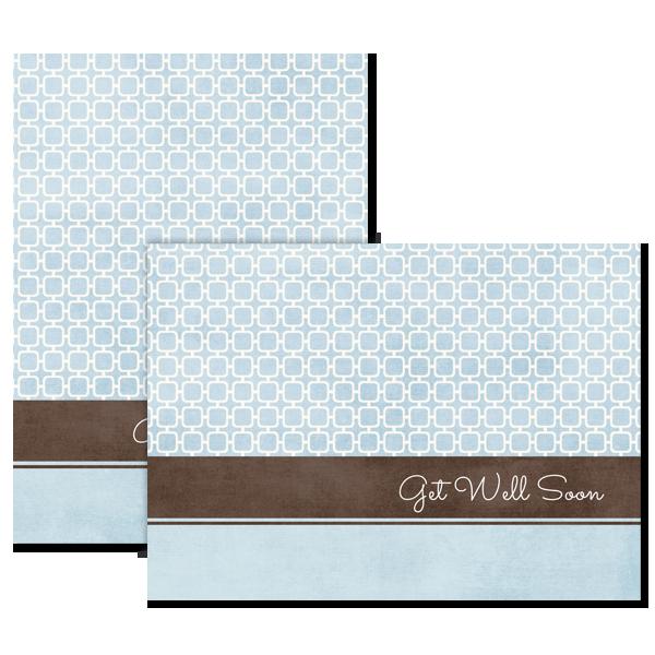 Geometric Blue Card