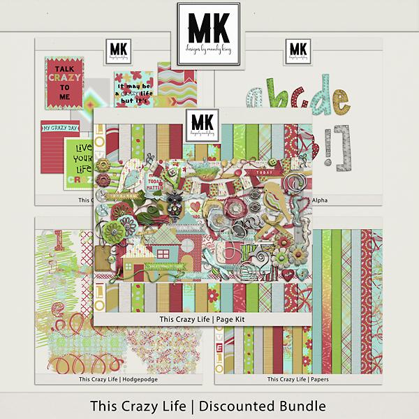 This Crazy Life Collection Digital Art - Digital Scrapbooking Kits