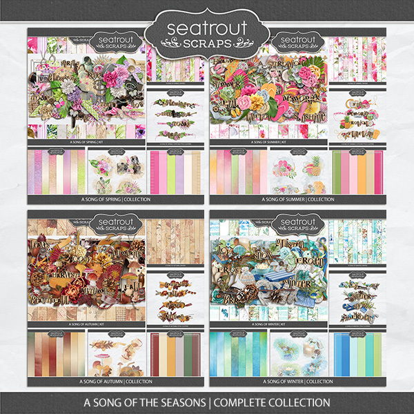 A Song Of The Seasons Complete Collection Digital Art - Digital Scrapbooking Kits