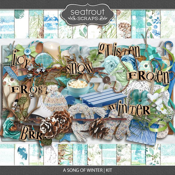 A Song Of Winter Kit Digital Art - Digital Scrapbooking Kits