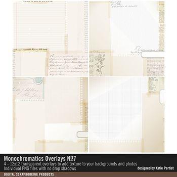 Monochromatics Overlays No. 07 Digital Art - Digital Scrapbooking Kits