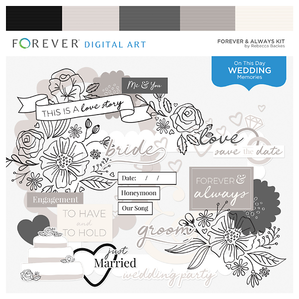 Forever & Always Kit Digital Art - Digital Scrapbooking Kits
