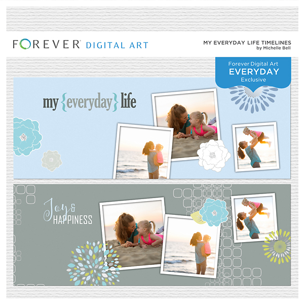 My Everyday Life Timelines Digital Art - Digital Scrapbooking Kits