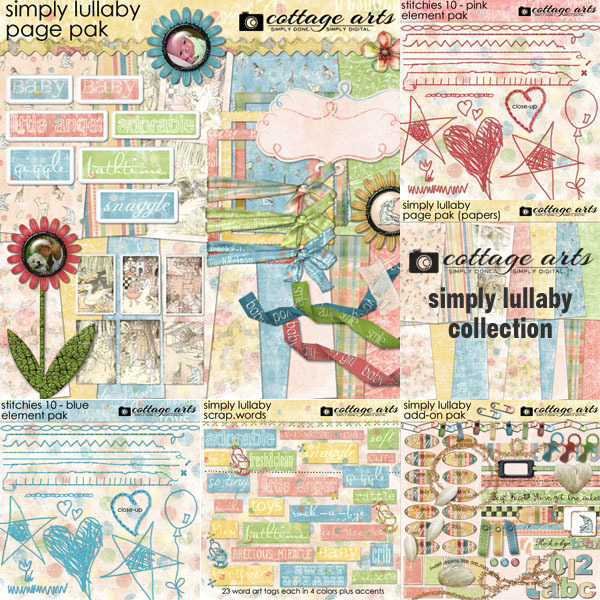 Simply Lullaby Collection Digital Art - Digital Scrapbooking Kits