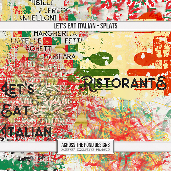 Let's Eat Italian - Splats Digital Art - Digital Scrapbooking Kits