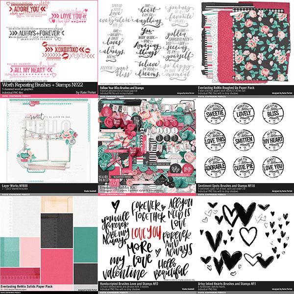 Everlasting Remix Scrapbooking Bundle Digital Art - Digital Scrapbooking Kits