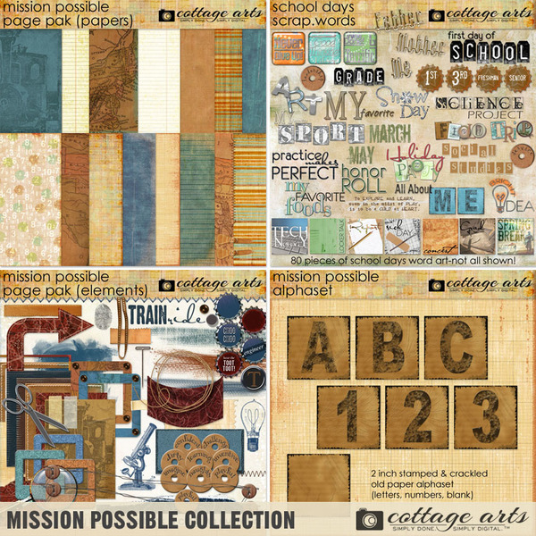 Mission Possible Collection Digital Art - Digital Scrapbooking Kits