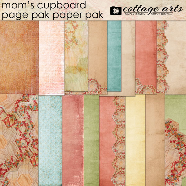 Mom's Cupboard Paper Pak Digital Art - Digital Scrapbooking Kits