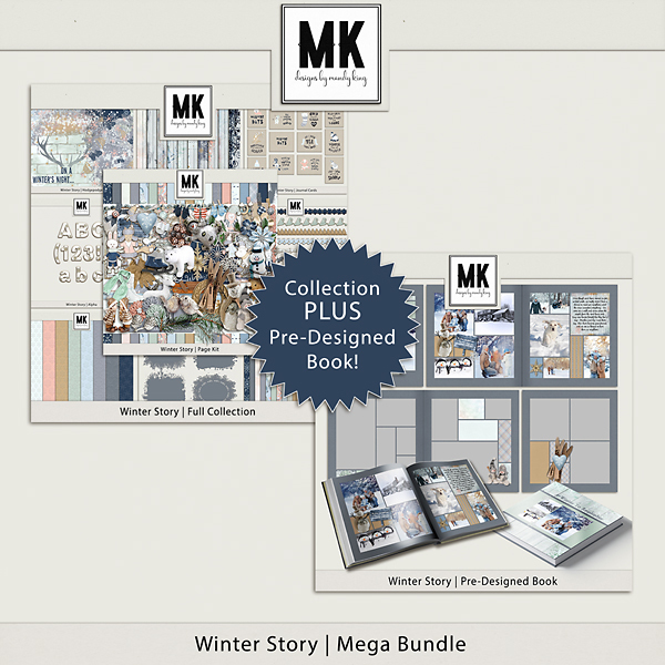 Winter Story Mega Bundle Digital Art - Digital Scrapbooking Kits