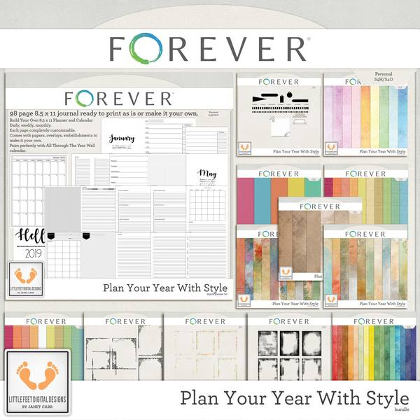 Plan Your Year With Style Digital Art - Digital Scrapbooking Kits