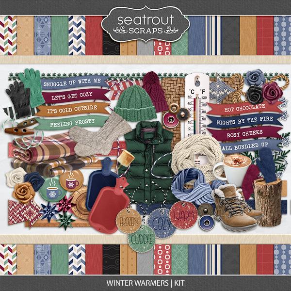 Winter Warmers Kit Digital Art - Digital Scrapbooking Kits