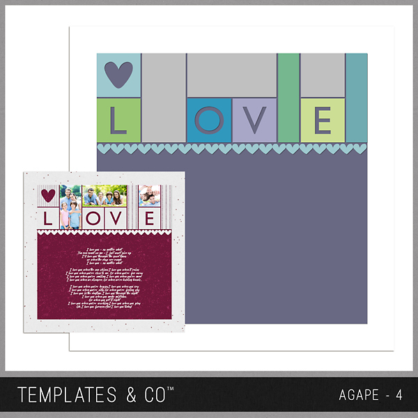 Agape 4 Digital Art - Digital Scrapbooking Kits